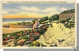 PENSACOLA, FLORIDA/FL POSTCARD, Fort Barrancas/McCerea - $4.00