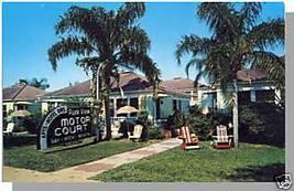 ST. PETERSBURG, FLORIDA/FL POSTCARD,Park View Motor Crt - $5.00