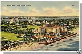 Beautiful PALM BEACH, FLORIDA/FL POSTCARD, Aerial View - $5.00