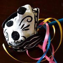 Mexican Dia de los Muertos Day of the Dead Puppy Dog Paper Mache Maraca Rattle image 6