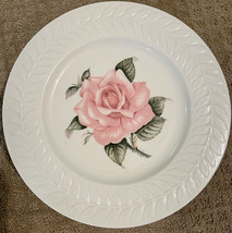 "Vintage Theodore Haviland Regent Park Rose 10-3/4"" Dinner Plate - $9.90"