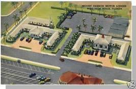 PALM BEACH,FLORIDA/FL POSTCARD,Mount Vernon Motor Lodge - $5.00