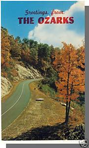 Beautiful, MISSOURI/MO POSTCARD, The Ozarks, 1968