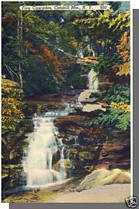 CATSKILL MOUNTAINS, NEW YORK/NYPOSTCARD, Five Cascades
