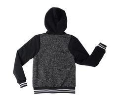 Active Cult Boys Kids Black Fleece Lined Zip Up Sports Hoodie Jacket XL (18-20) image 3