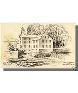 PAWTUCKET, RHODE ISLAND/RI POSTCARD, Old Slater Mill - $5.00
