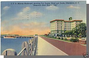 CHARLESTON, SOUTH CAROLINA/SC POSTCARD,Frt Sumter Hotel