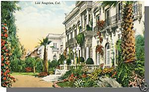 Early LOS ANGELES, CALIF/CA POSTCARD, Fine Residences