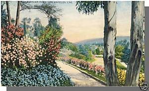 Early LOS ANGELES, CALIFORNIA/CA POSTCARD, Elysian Park