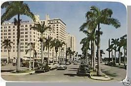 MIAMI, FLORIDA/FL POSTCARD,Biscayne Blvd/Colonial Hotel - $4.50