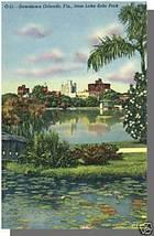 ORLANDO, FLORIDA/FL POSTCARD, Lake Eola Park - $4.00