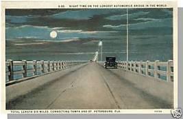 TAMPA/ST PETERSBURG, FLORIDA/FL POSTCARD, 6 Mile Bridge - $4.00
