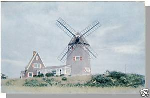 Quaint BREWSTER, MASS/MA POSTCARD, Windmill, Cape Cod