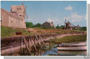 YARMOUTH, MASS/MA POSTCARD,Old Mill/Bass River,Cape Cod