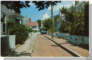 Nice NANTUCKET, MASS/MA POSTCARD, Martin Lane, Cape Cod