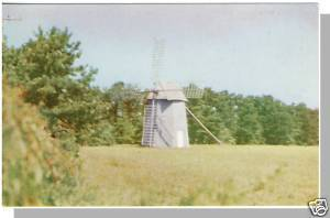 Nice WEST HARWICH, MASS/MA POSTCARD, Windmill, Cape Cod