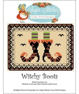 Witchy Boots halloween cross stitch chart Sugar... - $7.00