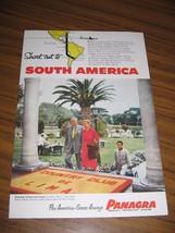1954 Print Ad Panagra Airline Pan American-Grace Airways Lima,Peru - $9.50