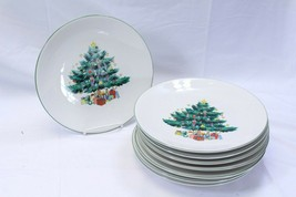 "GEI Xmas Tree Dinner Plates 10.25"" Lot of 8 - $68.59"