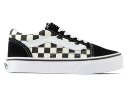 Vans Old Skool (Primary Check) Black White Sneakers Youth Kids Size 11 - $44.95