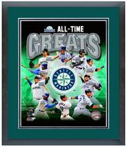 "11""x14"" Framed & Matted Seattle Mariners All-Time Great Players Photo Mo... - $43.95"