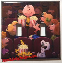Peanuts Snoopy friends movie theater Light Switch Power Outlet wall Cover Plate image 6