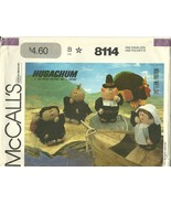 McCall's Sewing Pattern 8114 Hugachum Dolls Thanksgiving New - $9.98