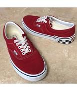 VANS Red Black & White Checker Tenni Shoes Sz 9  - $49.99
