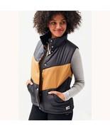 THE NORTH FACE Sylvester Vest Womens Brown Black Coat Jacket Sz M $149 - $108.89