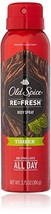 Old Spice Re Fresh Body Spray - Fresher Collection 3.75 OZ Pack of 2