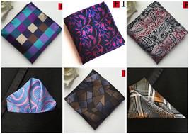 Black Grey Red Silver Purple Brown Pink Blue Orange Pocket Square Handke... - $6.71