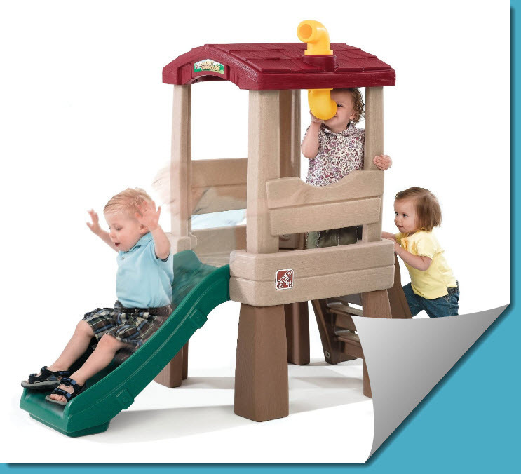 Kids Childrens Pretend Play Toy PlayHouse Outdoor Tree House W With Child Slide - $179.99