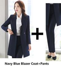 Women's Fashion Career Apparel High Quality 3 Piece Formal Business Pant Suits image 14