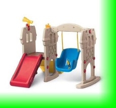 Little Tike Baby Toddler Play Outdoor Indoor Castle Swing W With Childre... - $298.00