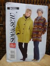 See & Sew B4331/A Jacket Pattern size 6-8-10 - $2.48