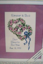 Weekenders Counted Cross Stitch Kit ( Hearts Entwined ) New - $6.99