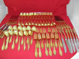 Esplanade by Towle Sterling Silver Flatware Set for 12 24K Yellow Gold EP  - $5,435.09