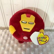 NEW Ty Beanie Ballz Red Iron man Small Ball plush stuffed doll toy - $5.89