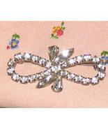 Vintage Costume Jewelry Rhinestone Bow Pin - $6.95