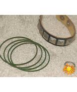 Vintage '70's Bangles/Leather Bracelet/Fun Flower Ring - $5.95
