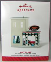 ANDY'S CARS Nostalgic Shop 2014 Hallmark Christmas Holiday Ornament NIB - $14.50