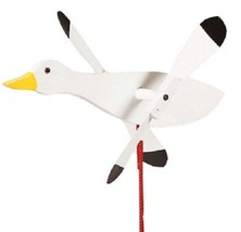 SNOW GOOSE WIND SPINNER - Amish Handmade Whirlybird Weather Resistant Wh... - $98.40 CAD