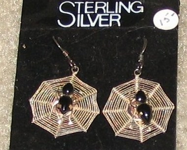 Vintage costume jewelry sterling silver spiderweb earrings for Vintage costume jewelry websites