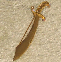 Vintage Goldtone Sword Pin - $5.95