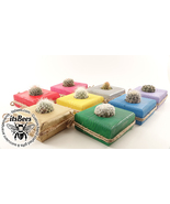 5 Colorful Wood Block Planters - Pick Your Color - Succulent, Cactus, Ha... - $20.00