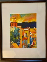 """ORIGINAL Signed Fauvism OIL Painting """"VILLAGE SKYLINE"""" 22.5""""x18.5"""" **EXC... - $269.99"""