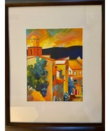 """ORIGINAL Signed Fauvism OIL Painting """"VILLAGE SKYLINE"""" 22.5""""x18.5"""" *EXCE... - $269.99"""