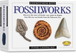 Eyewitness Kits PerfectCast Fossilworks Cast, Paint, Display and Learn C... - $34.75