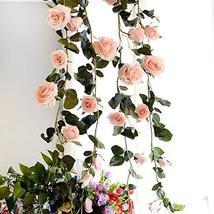 KPST Flowers - 180cm Artificial Rose Flower Ivy Vine Wedding Decor Real ... - $49.99