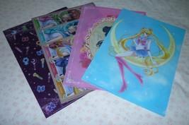 Mini Stop Exclusive Japan Ultra Rare Sailor Moon  all set 4 plastic file... - $155.00
